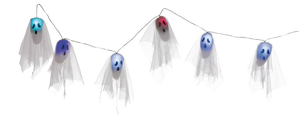 Halloween Light String with Ghosts - 170 cm (95421)