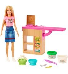 Barbie - Noddle Maker med Barbie Dukke Legesæt (GHK43)