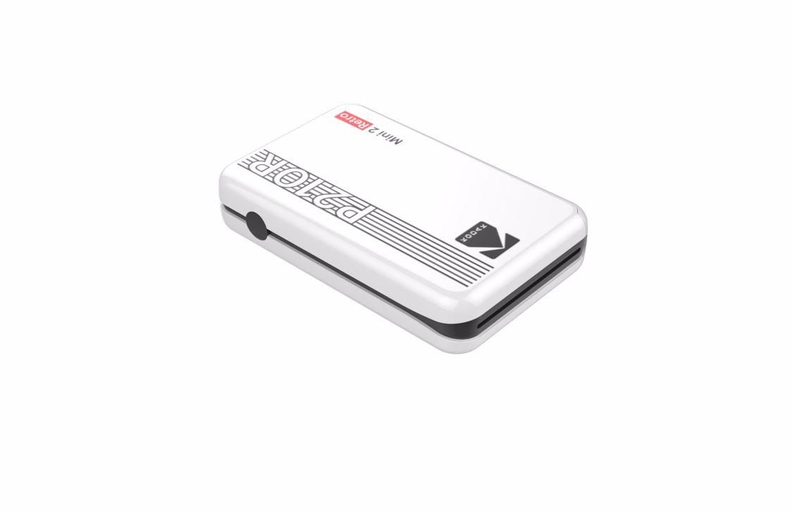 Kodak - Mini 2 Plus Retro Mini Printer - White