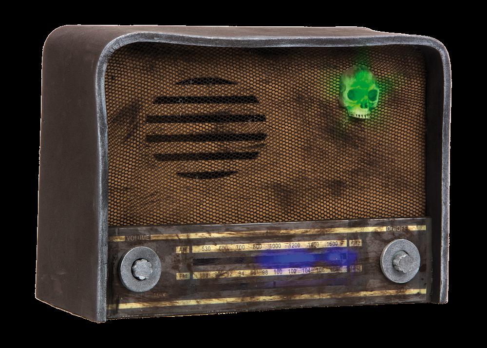 Halloween Haunted Radio w. Light and Sound (95787