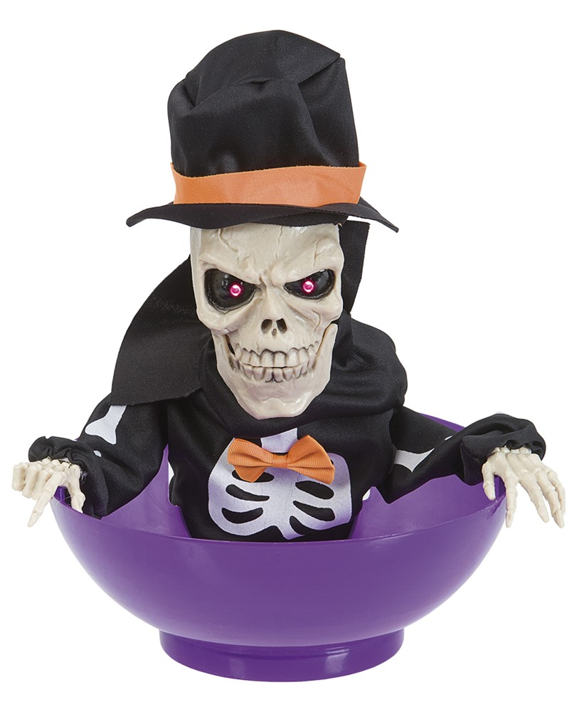 Halloween Candy Bowl Skeleton - Activated by Movement (90641)