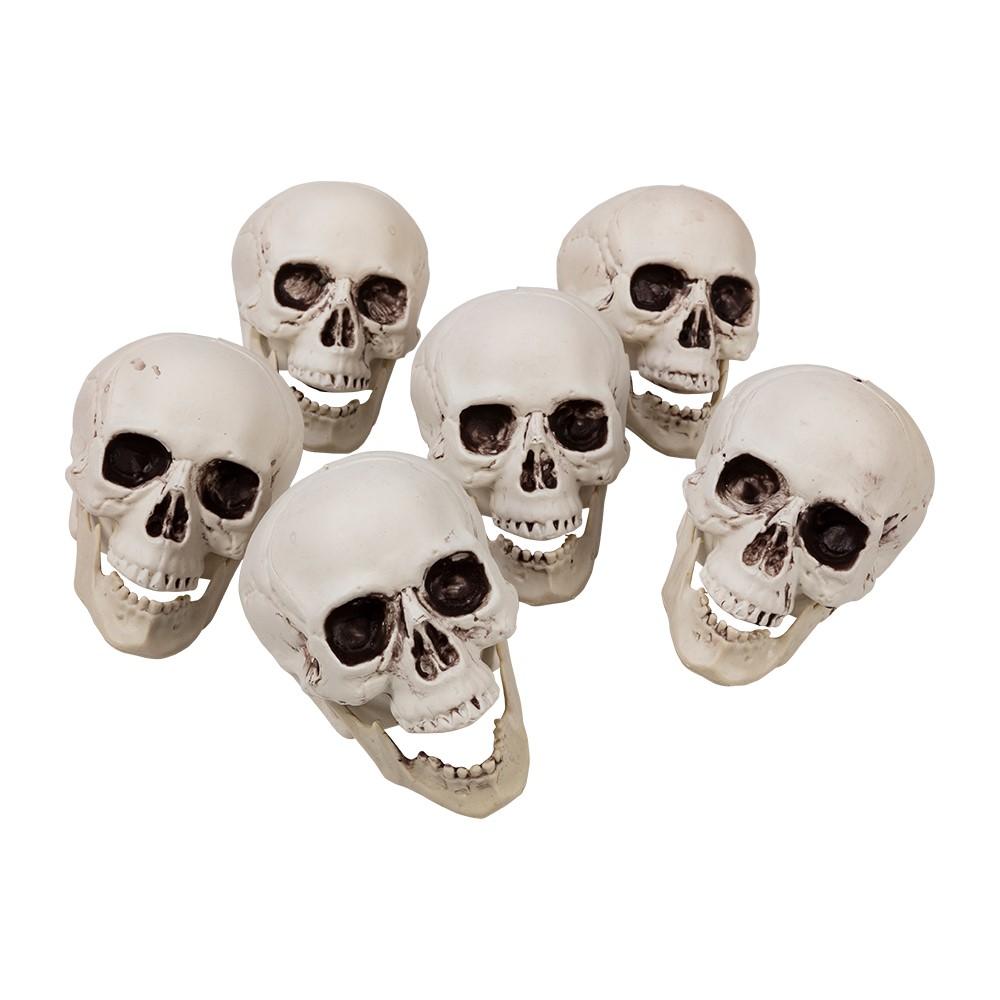 Halloween Bag of 6 Skulls (64257)