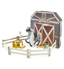 Royal Breeds - Barn Buddies Playset - White Horse