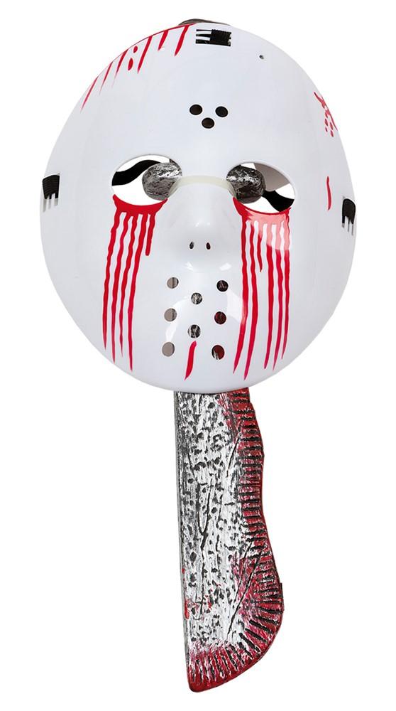 Halloween Bloody Jason - maske og machetekniv