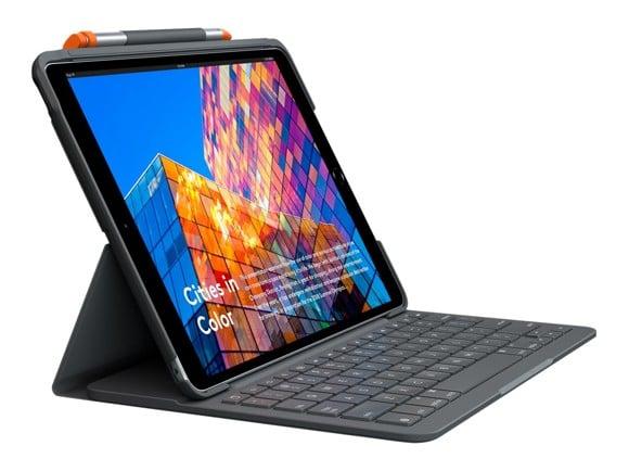 Logitech - Slim Folio for iPad 7th GRAPHITE