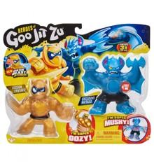 Goo Jit Zu - Battle Warrior Set - Golden Blazagon vs Rockjaw
