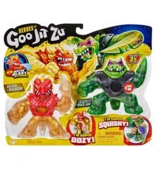 Goo Jit Zu - Battle Warrior Set - Golden Pantaro vs Battaxe