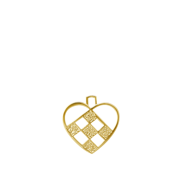 Rosendahl - Karen Blixen Flettet Hjerte - Gold (32561)