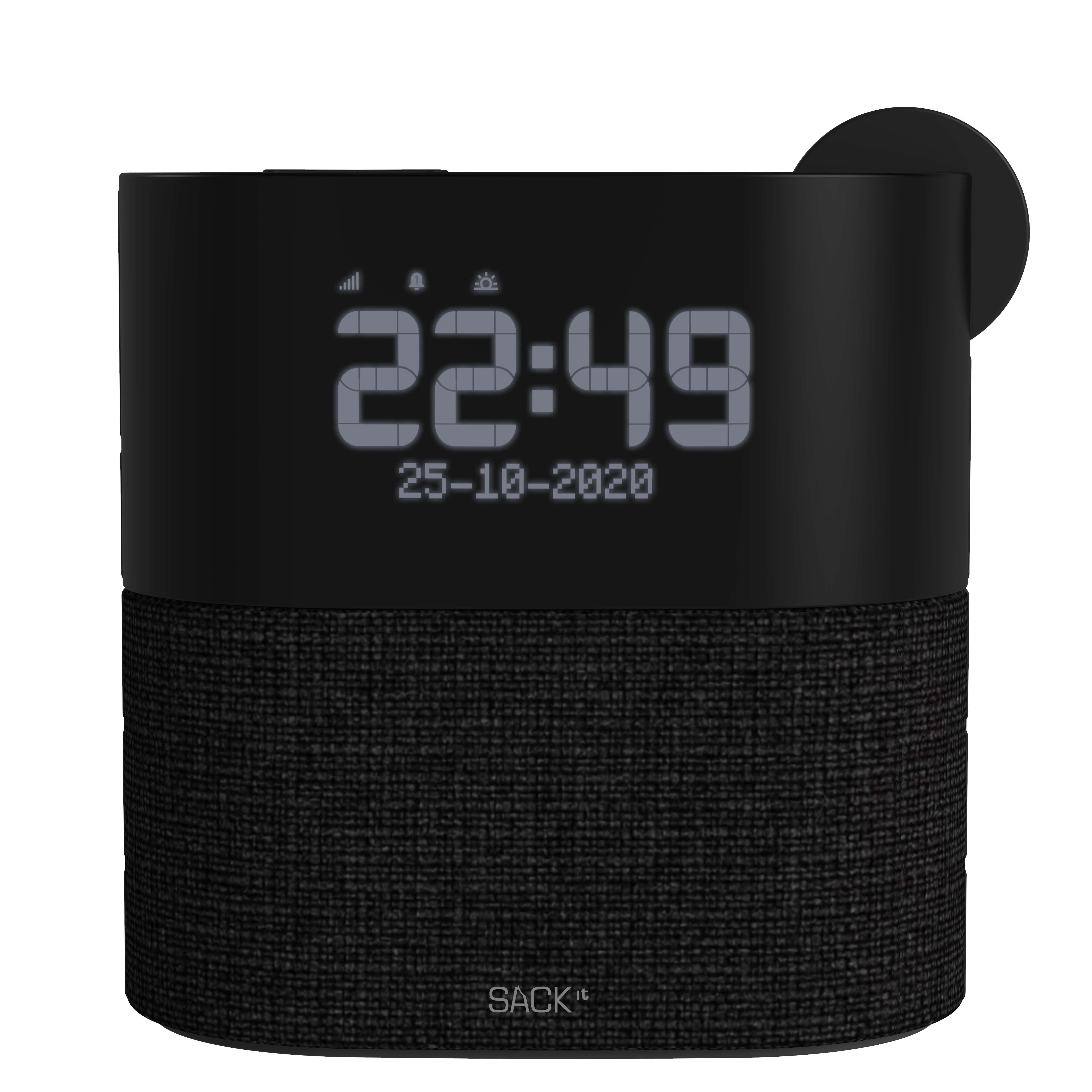 SACKit - WAKEit S - Clock Radio - Black
