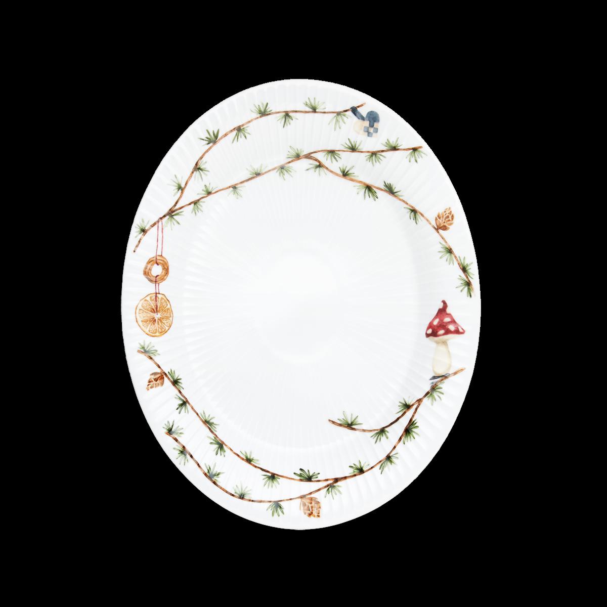 Kähler - Hammershøi Christmas Ovalt Table Dish 2020 Small - White With Deko (690112)