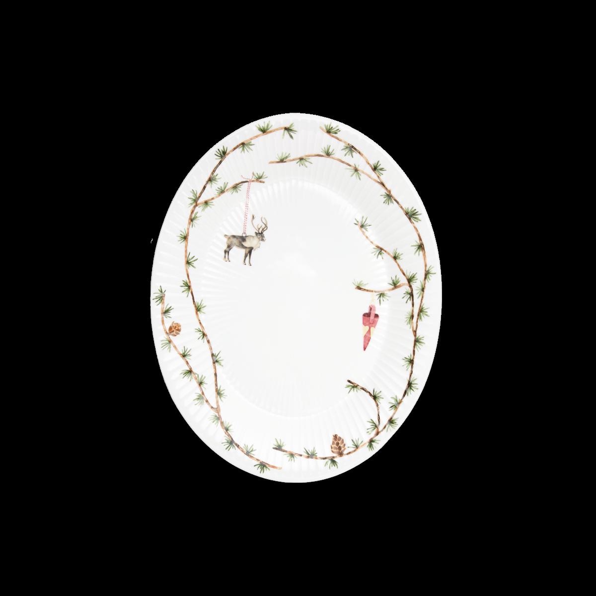 Kähler - Hammershøi Christmas Ovalt Table Dish Medium - White With Deko (693206)