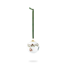 Kähler - Hammershøi Christmas Ball 2020 Ø 6 cm  - White With Deko (690113)
