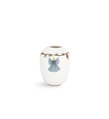 Kähler - Hammershøi Christmas Vase 10,5 cm - White With Deko (693208)