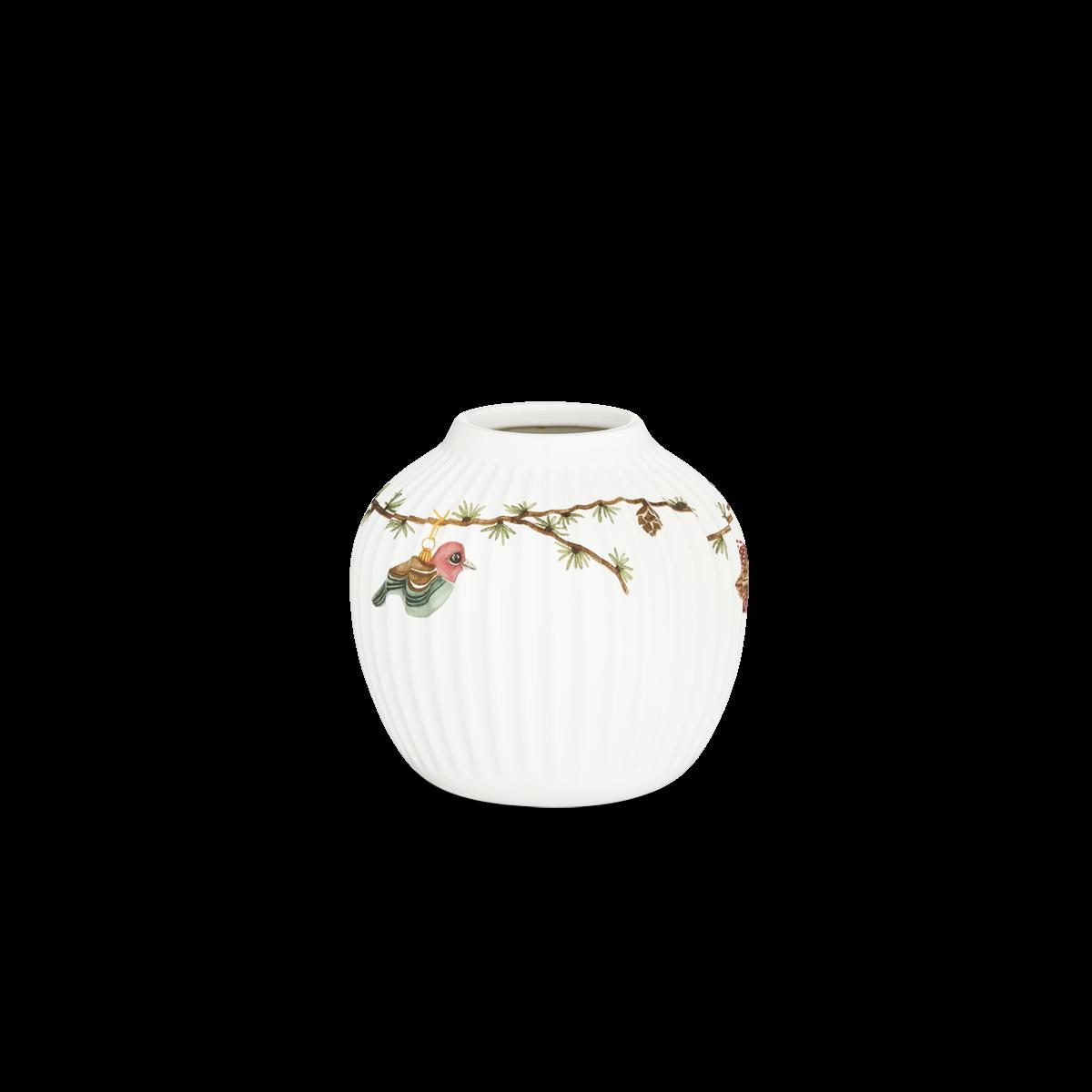 Kähler - Hammershøi Christmas Vase 13 cm - White With Deko (693209)