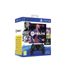 Sony Dualshock Controller 4 V2 Black + FIFA 21