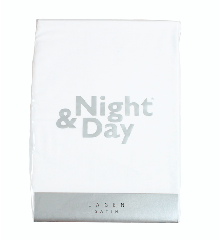 Night & Day - Junior Satin Boxlagen 70x140 cm. - Hvid
