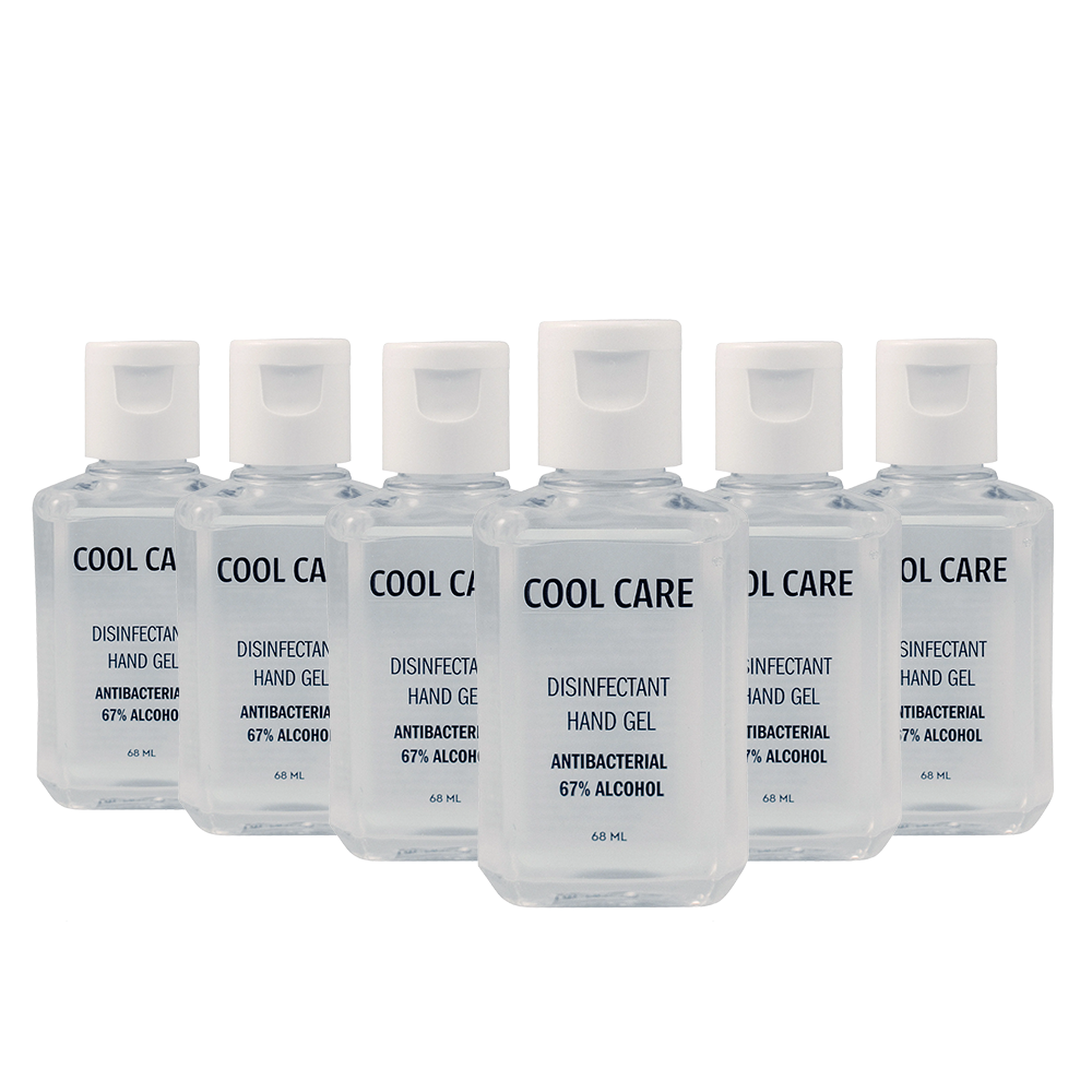 Cool Care - 6x Hand sanitizer (67%) 68 ml