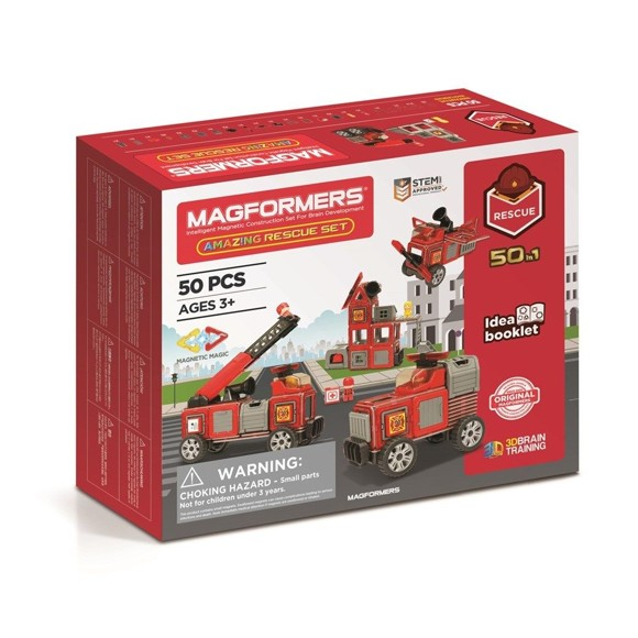 Magformers - Amazing Rescue set, 50 pcs (3071)