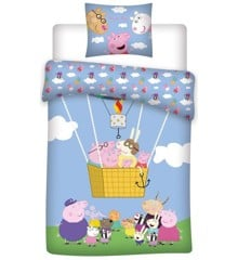 Bed Linen - Adult Size 140 x 200 cm -  Peppa Pig (100097)