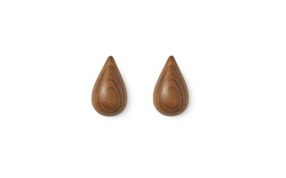 Normann Copenhagen - Dropit Hooks Set of 2 Small - Walnut (331560)