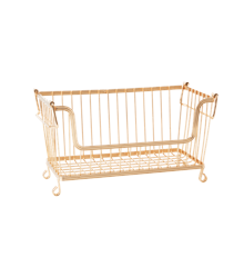 Rice - Stackable Wire Storage Basket in Gold Look - Small Gold