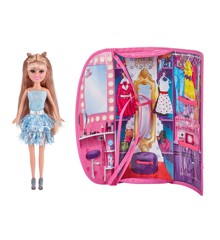 Sparkle Girlz - Doll With Carrying Case - Blue
