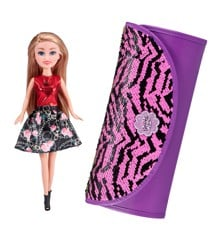 Sparkle Girlz - Doll With Carrying Case  - Red