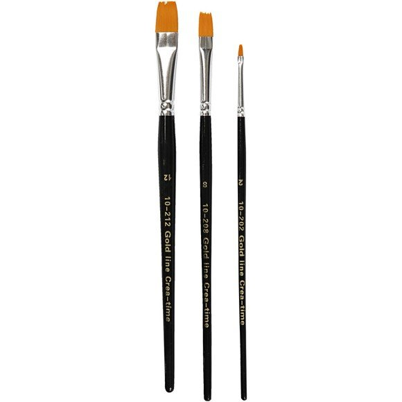 Gold Line - Brushes (No. 2 + 8 + 12)