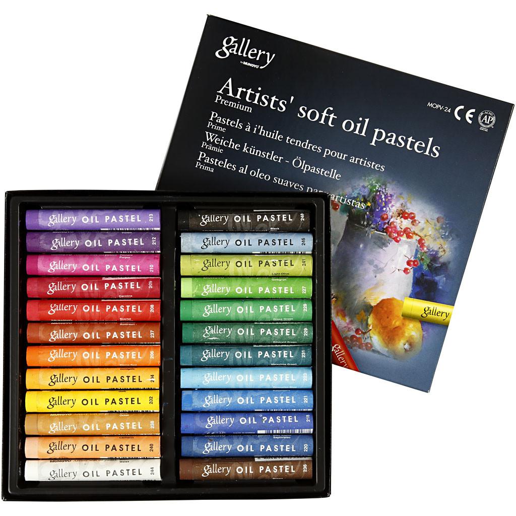 Gallery - Premium Oil Pastel (24 pcs)