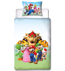 Bed Linen - Adult Size 140x200 cm - Super Mario (NO366)