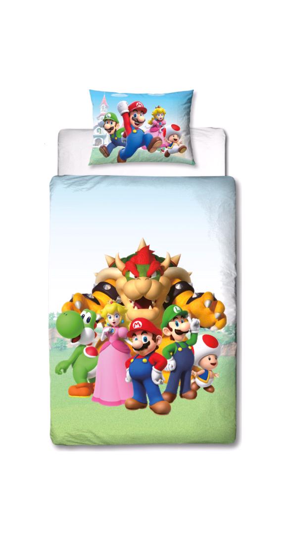 Sengetøj - Voksen str. 140 x 200 cm - Super Mario