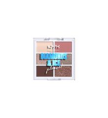 NYX Professional Makeup - 6 Pan Øjenskygge Palette - Diamond Delirious