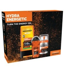 L'Oréal - Hydra Energetic Shower, Deo & Facecream - Giftset