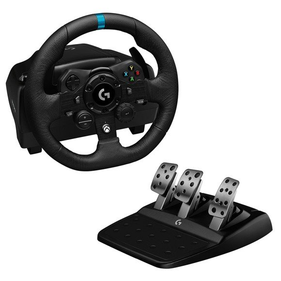 Logitech - G923 Racing Wheel and Pedals for Xbox One and PC