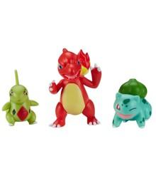 Pokemon - Battle Figure Set 3 pack - Larvitar, Bulbasauer & Charmele (PKW0045)