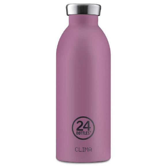 24 Bottles - Clima Bottle 0,5 L - Stone Finish - Mauve (24B529)