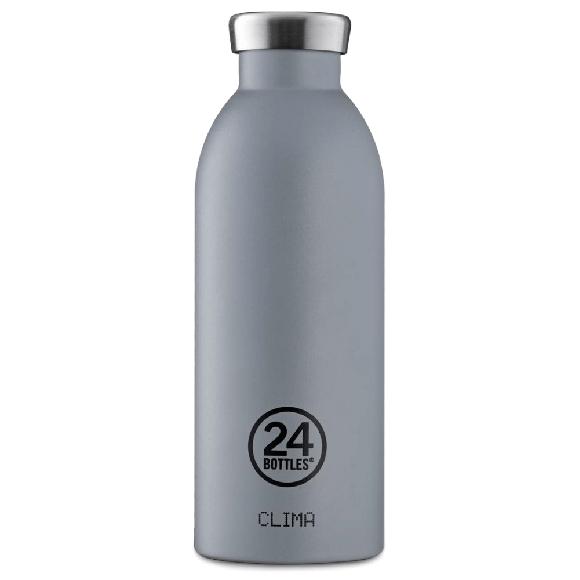 24 Bottles - Clima Bottle 0,5 L - Stone Finish - Formal Grey (24B552)