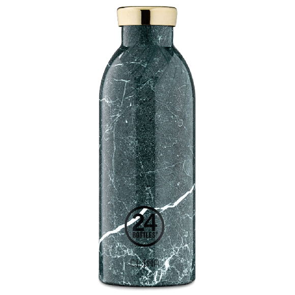 24 Bottles - Clima Bottle 0,5 L - Green Marble