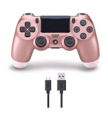 Sony Dualshock 4 Controller v2 - Rose Gold (#) + COOLGEAR - USB to Micro USB 3m Charge Cable