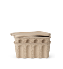 Ferm Living - Paper Pulp Box Set of 2 Small - Brown (1104263132)