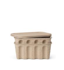 Ferm Living - Paper Pulp Box Søt á 2 Small - Brun