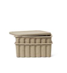 Ferm Living - Paper Pulp Box Sæt á 2 Large - Brun