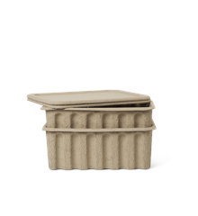 Ferm Living - Paper Pulp Box Set of 2 Large- Brown (100313315)