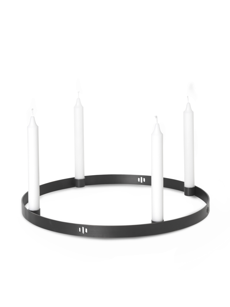 Ferm Living - Circle Candle Holder Large - Black Brass (5758)