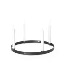 Ferm Living - Circle Candle Holder Large - Black Brass (5758)