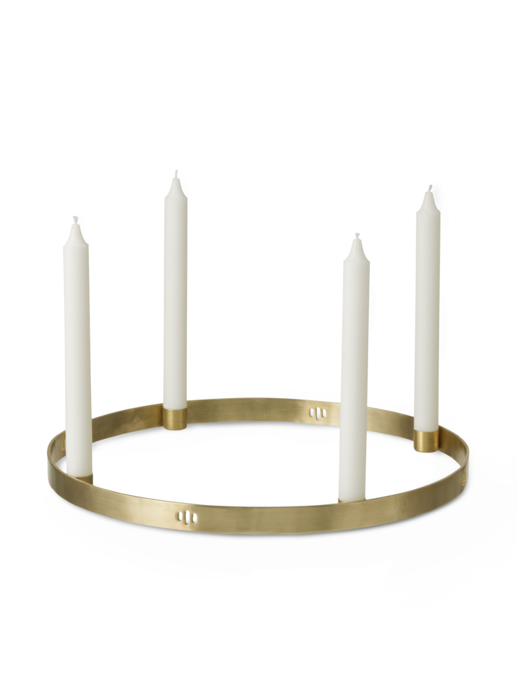 Ferm Living - Circle Candle Holder Large - Brass (5722)