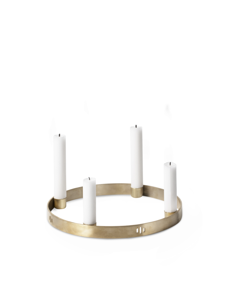 Ferm Living - Circle Candle Holder Small - Brass (5725)