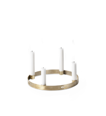 Ferm Living - Circle Lysestage Small - Sort Messing