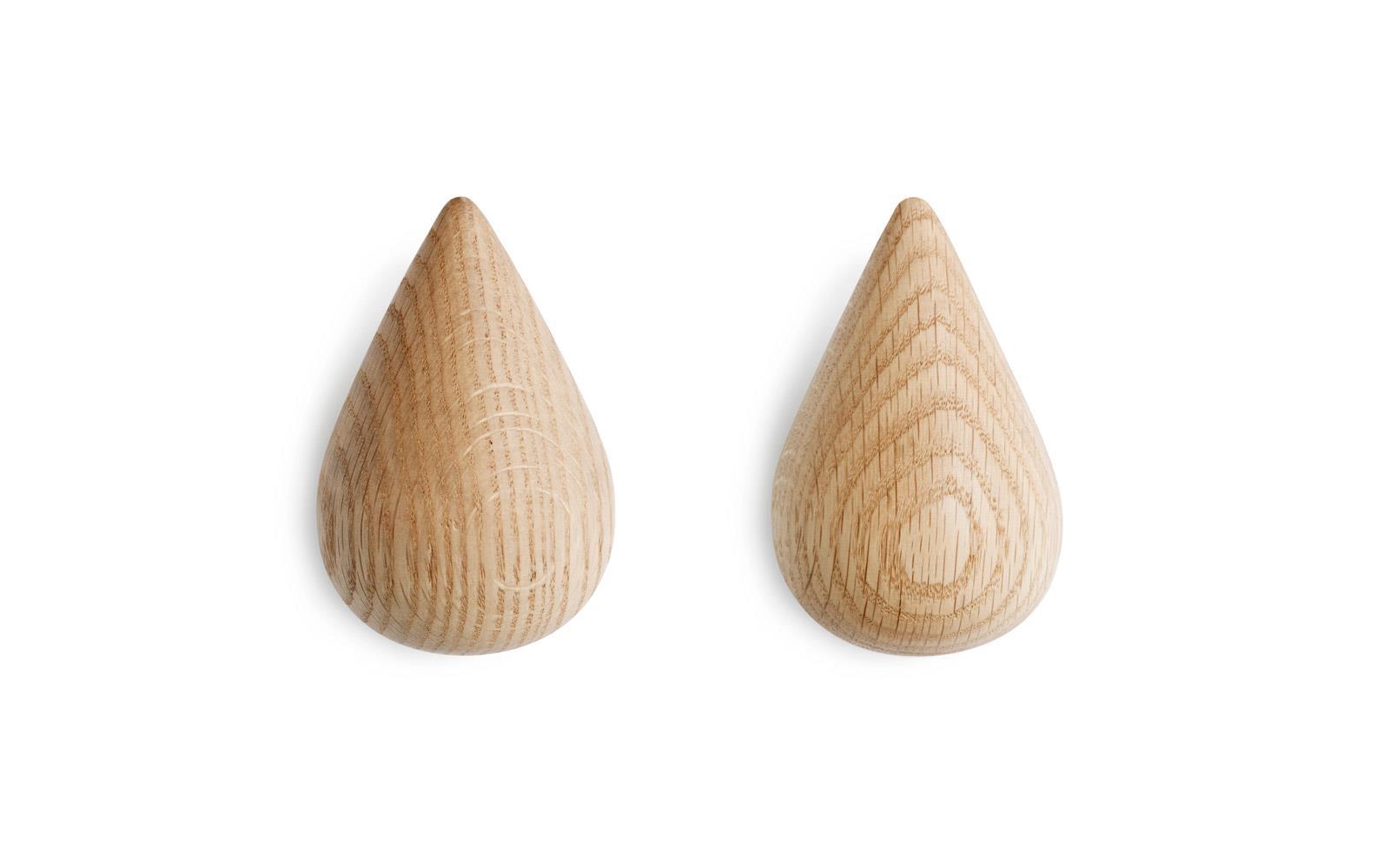 Normann Copenhagen - Dropit Hooks Set of 2 Large - Natur (331545)
