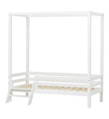 Hoppekids - BASIC Canopy bed w. Ladder 70 x 160 cm - White